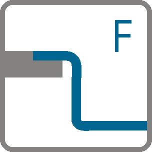 Način ugradnje Potpuno usadni (F)